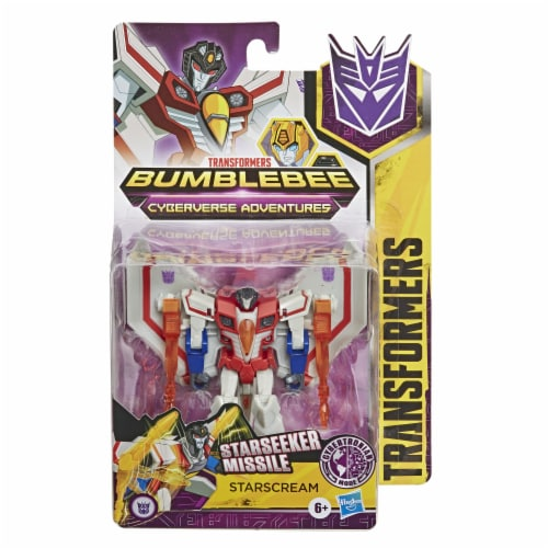 Transformers Bumblebee Cyberverse Adventures Starscream Action Figure Toy Perspective: front