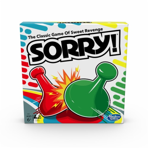 Hasbro Gaming Sorry! Board Game Perspective: front