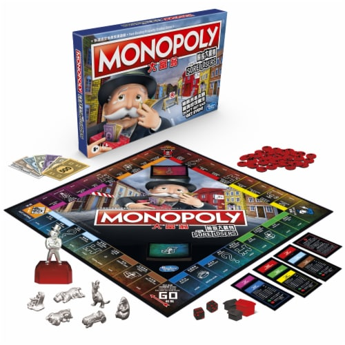 Hasbro Gaming Monopoly For Sore Losers Board Game Perspective: front