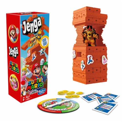 Hasbro Super Mario Jenga Edition Block Stacking Game Perspective: front