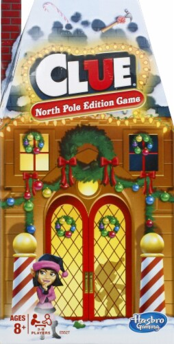 Hasbro North Pole Edition Clue Game Perspective: front
