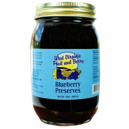 West Virginia Fruit and Berry Blueberry Preserves Perspective: front