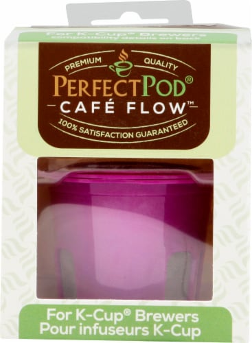 Perfect Pod Cafe-Flow Reusable Single-Serve Coffee Filter Cup Perspective: front