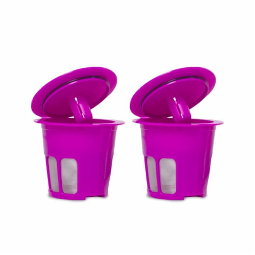 2-pack Cafe Flow Reusable Coffee Pod Filter   Refillable K Cup Capsule Compatible With Keurig Perspective: front