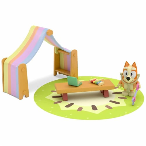 Bluey Playroom Action Figure Playset | Includes Bingo Perspective: front