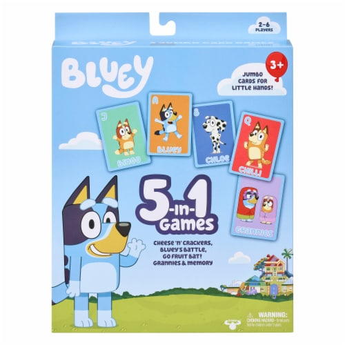 Moose Games Bluey 5-in01 Card Games Perspective: front