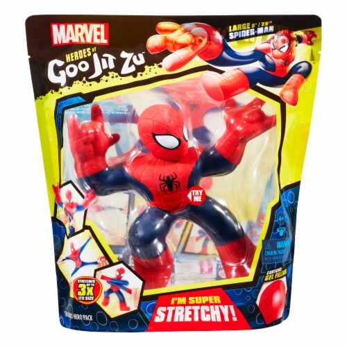 Marvel Heroes of Goo Jit Zu Posable Spider Man Figure Perspective: front