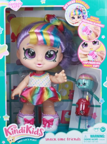 Kindi Kids Snacktime Friends Rainbow Kate Doll Perspective: front