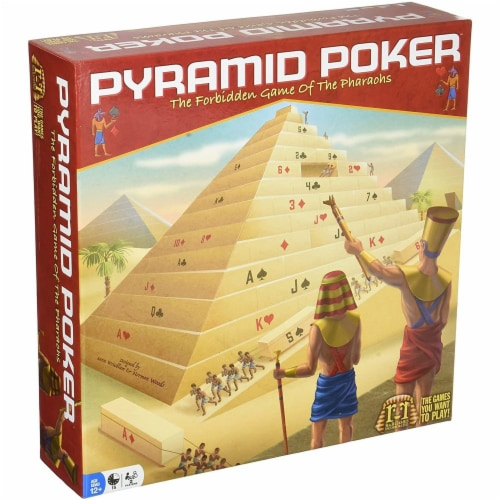 R & R Games 940 Pyramid Poker Board Game - Age 14 Plus Perspective: front