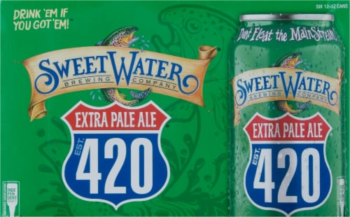 SweetWater Brewing Co. 420 Extra Pale Ale Perspective: front