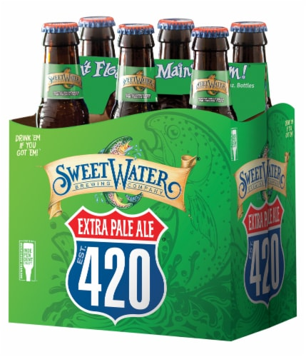 Sweet Water Brewing Co. 420 Extra Pale Ale Perspective: front