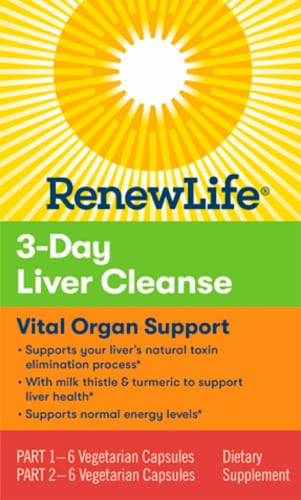 Renew Life 3-day Liver Cleanse Dietary Supplement Perspective: front