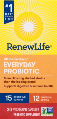 Renew Life Everyday Probiotic Capsules Perspective: front