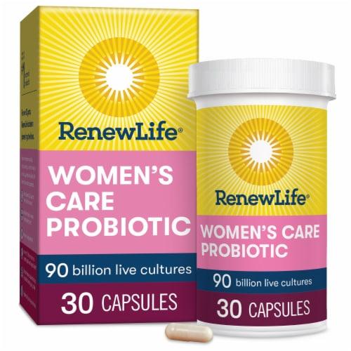 Renew Life Women's Probiotic Capsules Perspective: front
