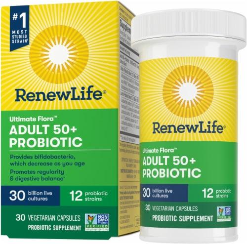 ReNew Life 50+ Probiotic Capsules Perspective: front