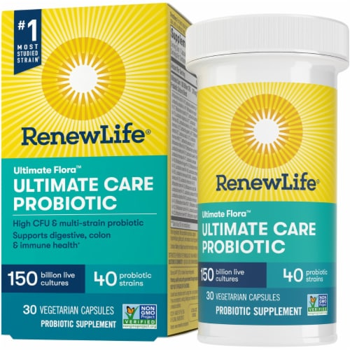 Renew Life Ultimate Flora Ultimate Care Probiotic Capsules Perspective: front