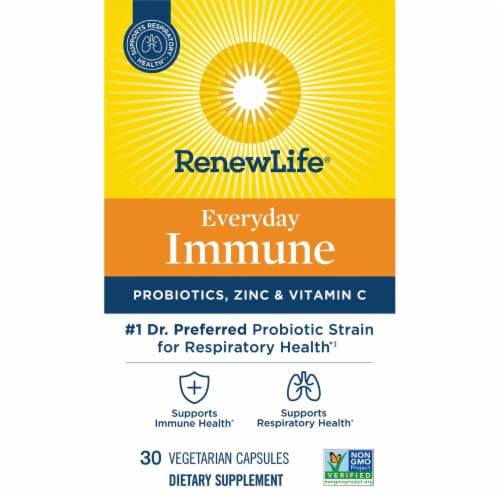 Renew Life Everyday Immune Dietary Supplement Capsules Perspective: front