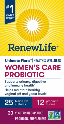Renew Life Women's Care Ultimate Flora Probiotic  Vegetable Capsules Perspective: front