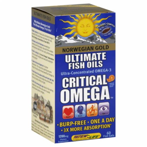 Norwegian Gold Ultimate Fish Oils Critical Omega Perspective: front