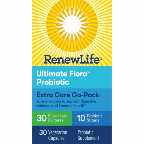 Renew Life Ultimate Flora Extra Strength Probiotic Perspective: front