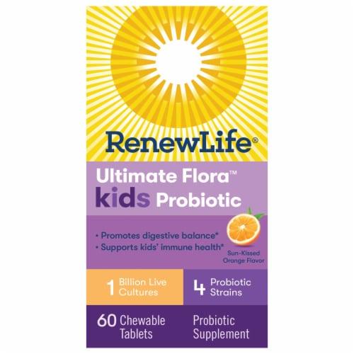 Renew Life  Kids Probiotic Ultimate Flora™   Sun-Kissed Orange Perspective: front