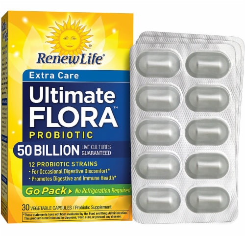 Renew Life  Ultimate Flora™ Probiotic Extra Care Go Pack Perspective: front