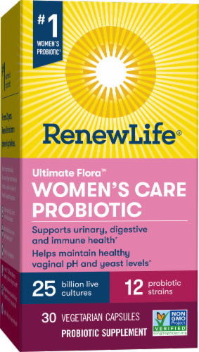 Renew Life Ultimate Flora Women's Care Probiotic Perspective: front