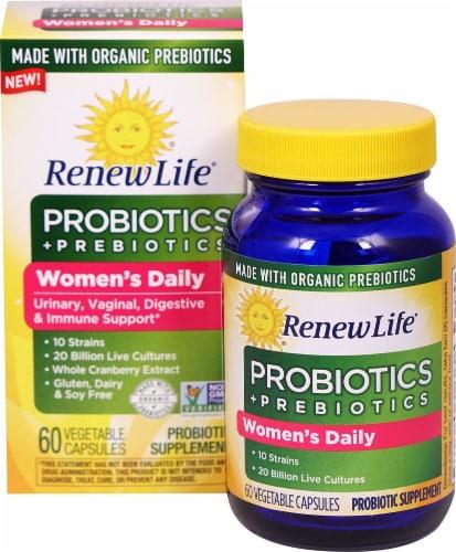 Renew Life  Women's Daily Probiotics plus Prebiotics Perspective: front