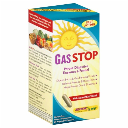 Renew Life Gas Stop Digestive Aid Perspective: front