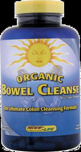 Renew Life Organic Bowel Cleanse Vegetarian Capsules Perspective: front