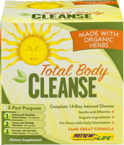 Renew Life Total Body Cleanse Kit Perspective: front