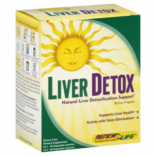 Renew Life Liver Detox Cleansing Program Perspective: front