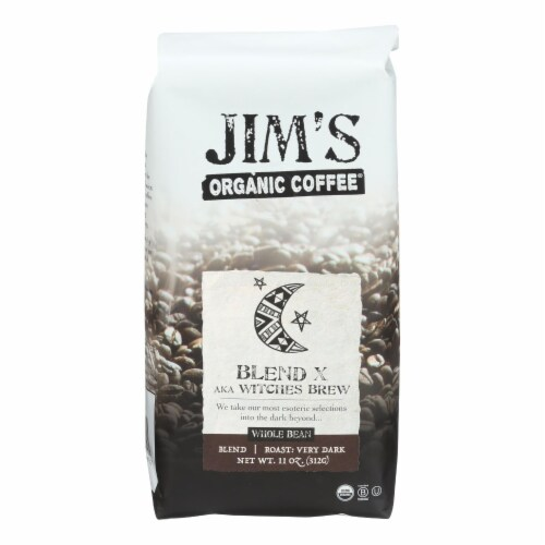 Jim's Organic Coffee - Whole Bean - Sweet Love Blend - Case of 6 - 11 oz. Perspective: front