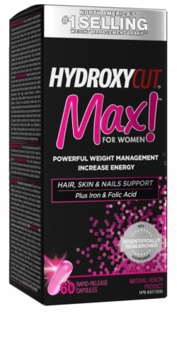 Hydroxycut Max for Women Capsules Perspective: front