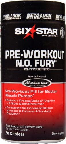 Six Star  Pro Nutrition™ Pre-Workout N.O. Fury® Elite Series Perspective: front