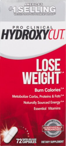 Hydroxycut Pro Clinical Lose Weight Rapid-Release Capsules Perspective: front