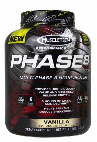 MuscleTech Phase 8™ Multi-Phase 8-Hour Protein - Vanilla Perspective: front