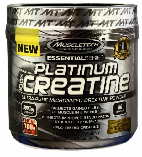MuscleTech  Essential Series Platinum 100% Creatine Perspective: front
