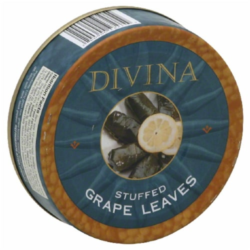 Divina Dolmas Stuffed Grapes Leaves Perspective: front