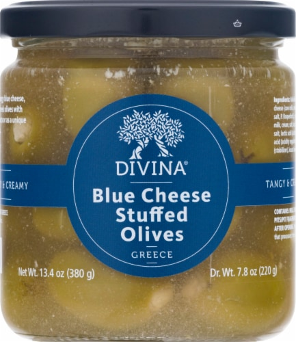 Divina Blue Cheese Stuffed Olives Perspective: front
