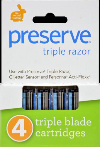 Preserve Triple Razor Blades Perspective: front