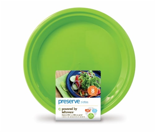 Preserve On The Go 10.5-Inch Apple Green Plates Perspective: front