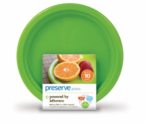 Preserve On The Go Small Plates - 10 Pack - Apple Green Perspective: front