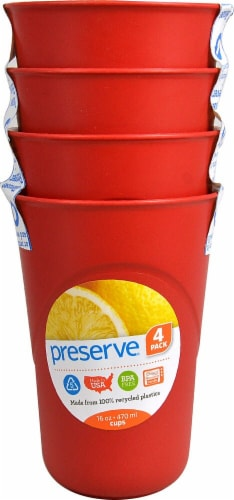 Preserve  Everyday Cups 16 - fl oz Capacity Pepper Red Perspective: front