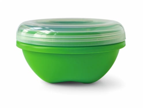 Preserve Apple Green Small Round Food Storage Container Perspective: front