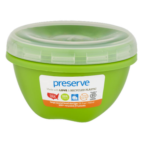 Preserve Apple Green Large Round Food Storage Container Perspective: front