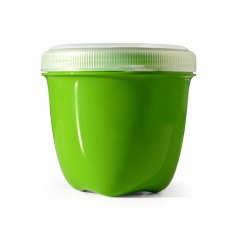 Preserve Mini Food Storage Container Apple Green Perspective: front