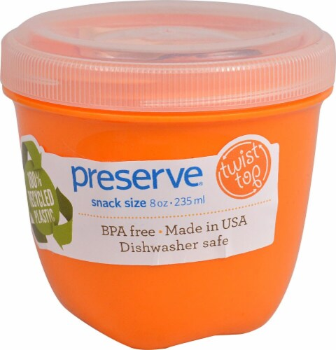 Preserve  Food Storage Container Round Mini Orange Perspective: front