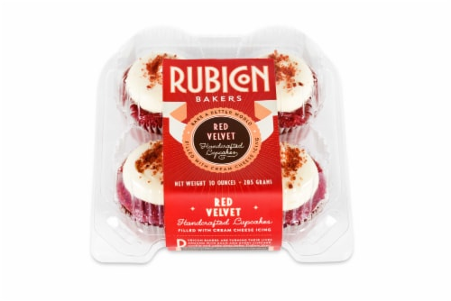 Rubicon Bakers Red Velvet Cupcakes Perspective: front