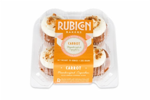 Rubicon Bakers Carrot Cupcakes 4 Count Perspective: front